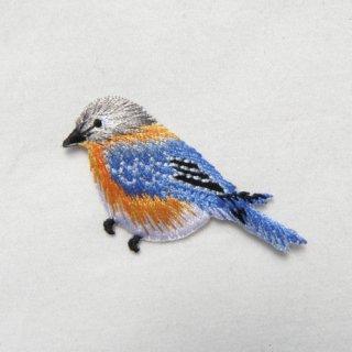 アップリケ 青い鳥
