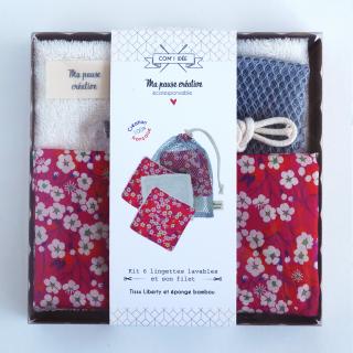 リバティプリント コースター&巾着袋キット Mitsi フランス製
