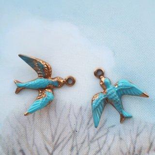 ヴィンテージチャーム 青い鳥(1個)