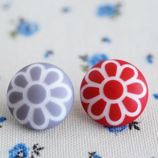 丸いお花のボタン フランス製