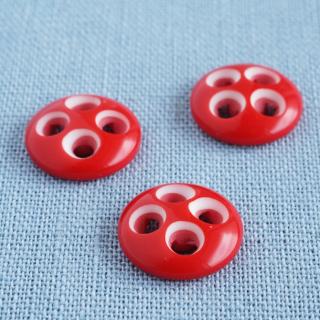 赤い実のようなボタン フランス製