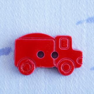 赤いトラックのボタン フランス製