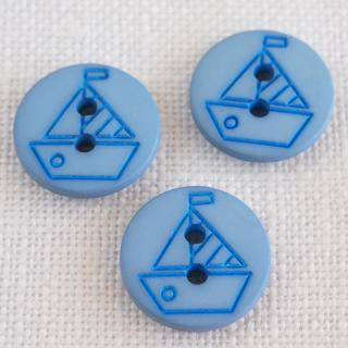 ボタン ヨット12mm ブルー