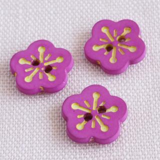 ボタン 桃の花 濃いピンク