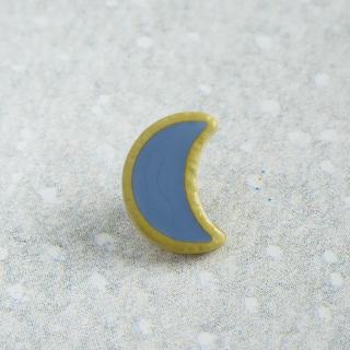 ボタン 月 ブルーグレイ 12mm