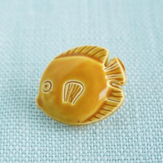 お魚のボタン マスタード フランス製