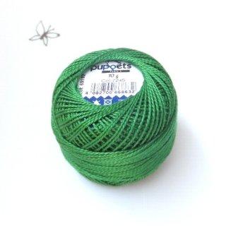 ハンガリー刺繍用刺繍糸 puppets perle cotton 8    深緑