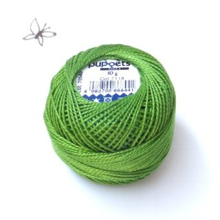 ハンガリー刺繍用刺繍糸 puppets perle cotton 8    ライトグリーン