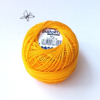 ハンガリー刺繍用刺繍糸 puppets perle cotton 8    濃い黄色