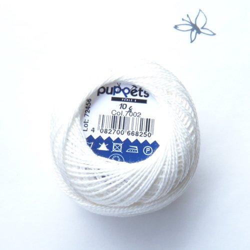 ハンガリー刺繍用刺繍糸 puppets perle cotton 8   白