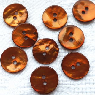 カラー貝ボタン15mm ブラウン