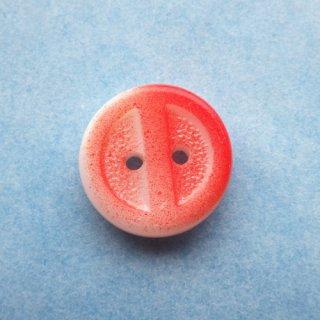 ヴィンテージガラスボタン 赤い実