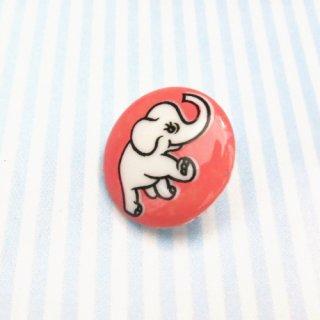 ボタン ゾウ(ピンク)