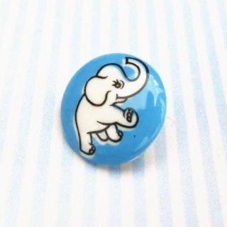 ボタン ゾウ(ブルー)