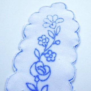 ハンガリー刺繍図案入りブックマーク(白)