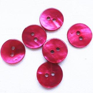 カラー貝ボタン12mm フューシャ