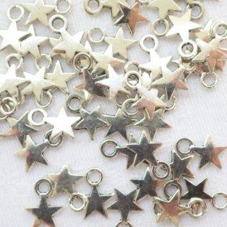 星のチャーム40個(シルバートーン)