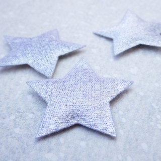 銀色の星モチーフ 3枚セット