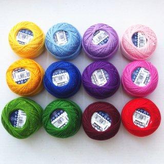 ハンガリー刺繍用刺繍糸 puppets 基本12色セット