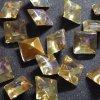 Vintage glass stone yellow (Dragon's breath) square 約7mm