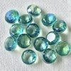 Dragons Breath (mexican opal) Pointed Back Round Green 約8mm(39-40ss)