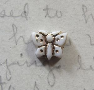 Vintage Small Butterfly With Gold Accents