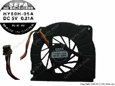 BRUSHLESS HY60H-05A DC5V 0.21A  CPU ファン CPU FAN