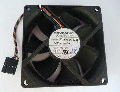 Foxconn PVA080G12H 80X80X25MM DC 12V 0.6A CPUファン