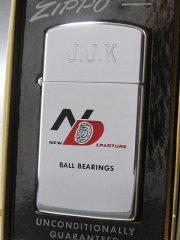 【送料無料】★60'sジッポーzippoボールベアリング会社ノベルティ スリムライターモノグラム入り箱付未使用1962年製