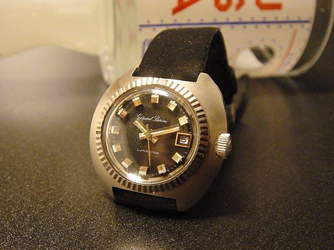 《送料無料》★70'sスイス製自動巻き式レディース腕時計アポロ11号仕様