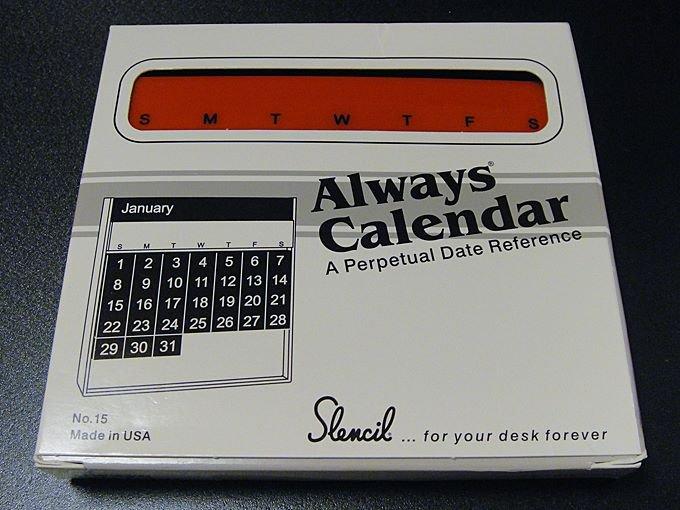 【ワケあり】★OUTLET!?アメリカ製卓上万年Alwaysカレンダー黒×赤