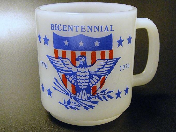 【ワケあり】★Outlet?!70'sグラスベイク アメリカ建国200周年記念 マグカップ
