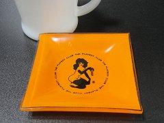 ★60'sプレイボーイクラブ・バニーガールプリントガラス灰皿