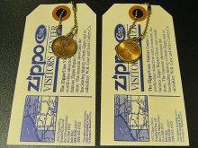 ★90'sジッポーzippoペニーコイン「幸運のコイン」キーリング&タグ(各種1993・1996年)