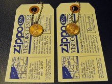 ★90'sジッポーzippoペニーコイン「幸運のコイン」キーリング&タグ(各種1994・1995年)