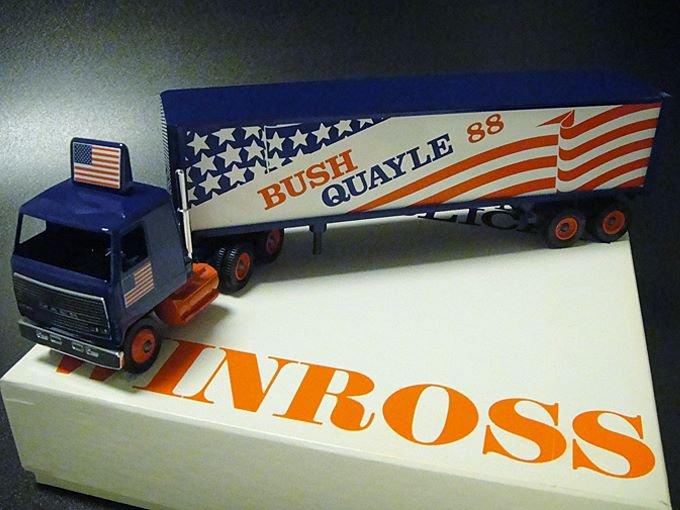 【送料無料】★80'sアメリカ合衆国大統領選挙ウィンロス社製ミニチュアトラック