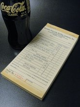 ★40'sアメリカ コカ・コーラボトリング社ドライバーセールス/ボトル・レシート・ブック未使用