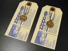 ★70'sジッポーzippoペニーコイン「幸運のコイン」キーリング&タグ(各種1978・1979年製)