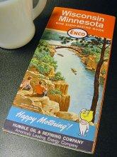 ★60'sアメリカ合衆国ミネソタ州ウィスコンシン州Enco観光ガイド地図オイルドロップ