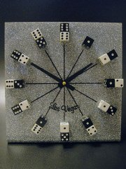 【送料無料】★アメリカンカジノ Las Vegasラスベガス ダイス置時計USA製