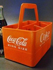 ★60'sコカ・コーラCoke6本ボトル・キャリーケース キングサイズ用