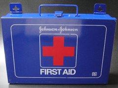 ★70's ジョンソン&ジョンソン社ファーストエイドキット救急箱