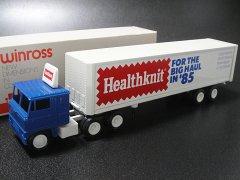 ★80's ウィンロス社アメリカ製ヘルスニット アンダーニットウエアー ミニチュアトラックトレーラー