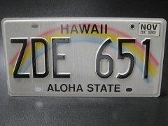 ★アメリカ合衆国ハワイ州アロハステート・ライセンスナンバープレート2013-2017年