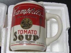 ★70'sアメリカ製キャンベル・トマトスープ・ノベルティマグカップ未使用 広告付