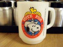【送料無料】★80'sアメリカ製アンカーホッキング・スヌーピー「プレジデント2」マグカップ