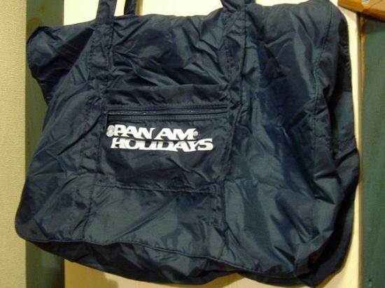 【ワケあり】★OUTLET!?80's パンアメリカ航空PAN AMホリデイズ・ナイロン製バッグ