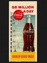 ★1957年アメリカ製コカ・コーラ広告カード