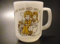 【送料無料】★70'sアメリカ製ファイヤーキング・サンデーズチャイルドマグカップ