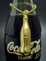 ★80'sコカ・コーラcoca cola・ゴールドボトル・チェーンキーホルダー